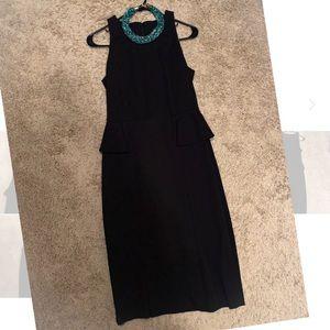 Black peplum Banana Republic dress